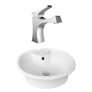 Read Reviews Above Counter Ceramic Oval Vessel Bathroom Sink with Faucet and Overflow ByRoyal Purple Bath Kitchen
