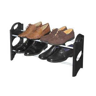 Great Price 2-Tier 6 Pair Shoe Rack By Sunbeam