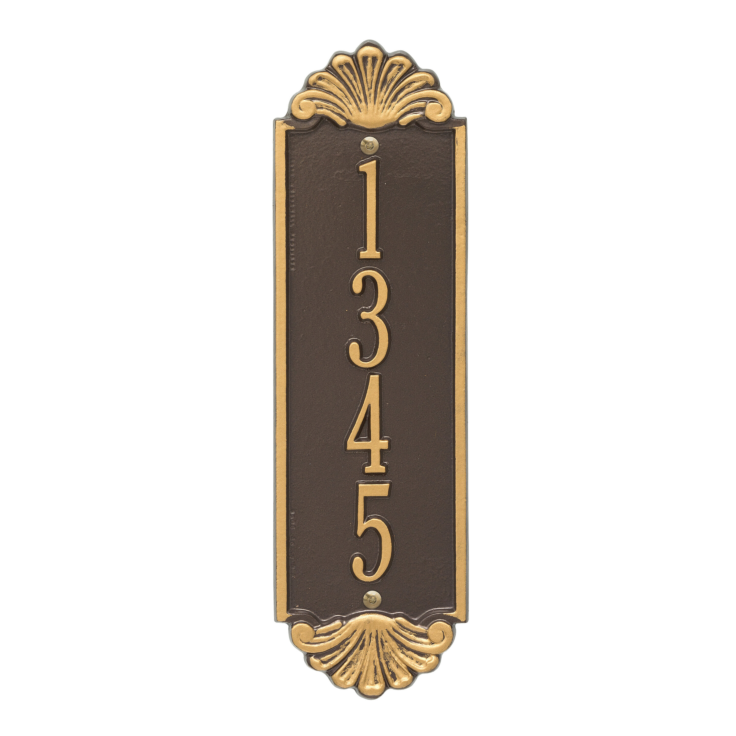 Whitehall Products Shell Personalized Vertical 4 Line Wall Address Plaque Reviews Wayfair