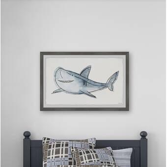 Isabelle Max Chesney Big Shark Framed Art Wayfair