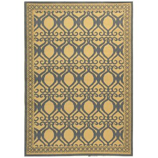 Short Natural & Olive Indoor/Outdoor Area Rug