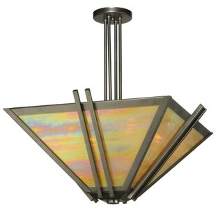 Meyda Tiffany Pueblo Skies 4-Light Semi Flush Mount