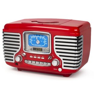 Decorative Media Players You'll | Wayfair.ca on kitchen cabinet radio cd player, microwave under cabinet, antique pooley radio cabinet, radio cd under cabinet,