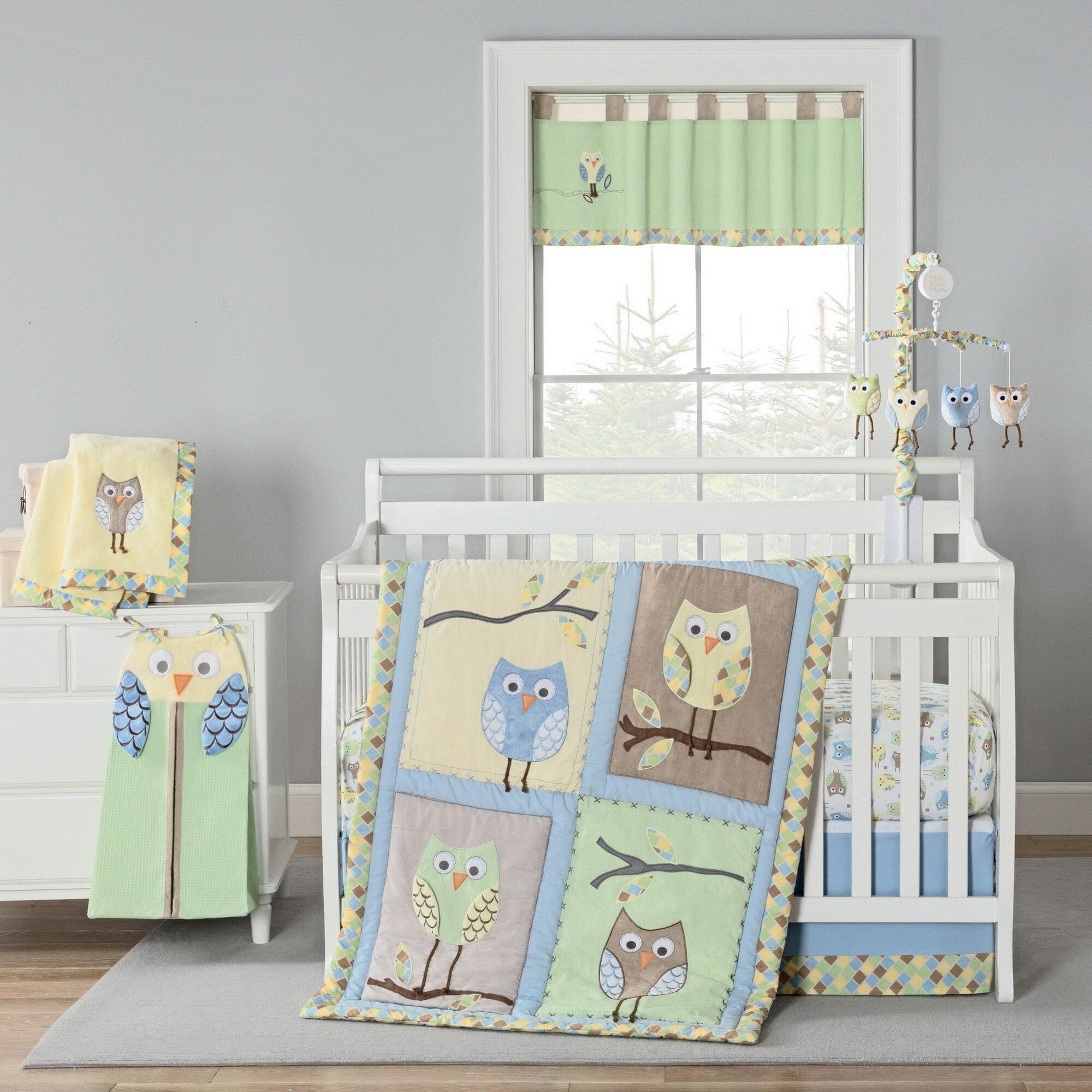 Harriet Bee Kraig Owls 4 Piece Crib