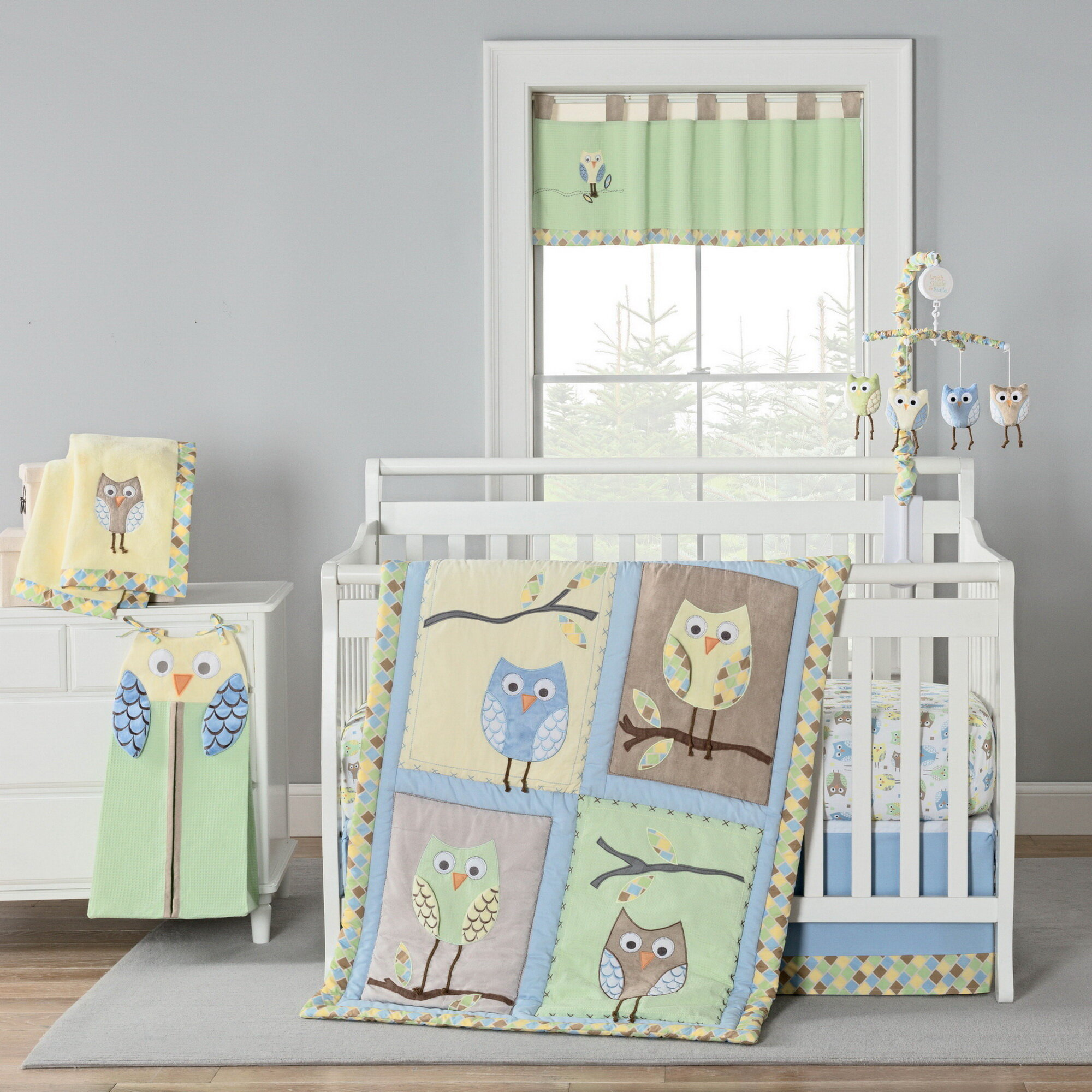 Harriet Bee Kraig Owls Crib Bedding Set Wayfair