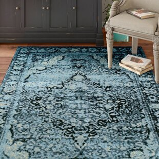 Sanders Midnight Blue/Black Area Rug