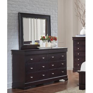 Best Price Matheson 6 Drawer Double Dresser with Mirror by Alcott Hill