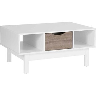 Gall Wood Grain Coffee Table with Storage by Wrought Studio