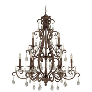 Astoria Grand Lilliane 9-Light Candle Style Chandelier