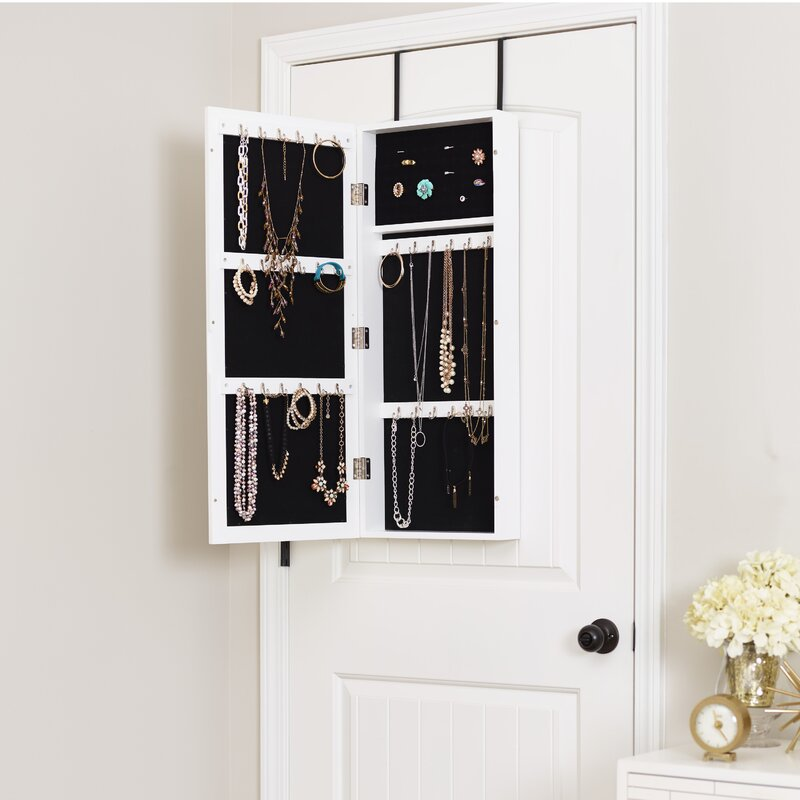 InnerSpace Luxury Products Space Saver Over the Door Jewelry Armoire