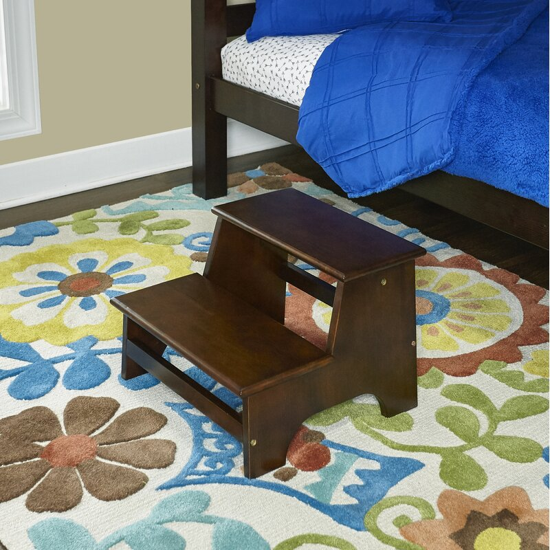 Surprising Tyler Bed 2 Step Wood Step Stool With 180 Lb Load Capacity Creativecarmelina Interior Chair Design Creativecarmelinacom