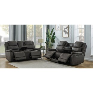 Jean-Marie 2 Piece Faux Leather Reclining Living Room Set by Red Barrel Studio
