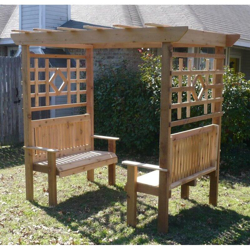 Double Garden Arbor With Bench