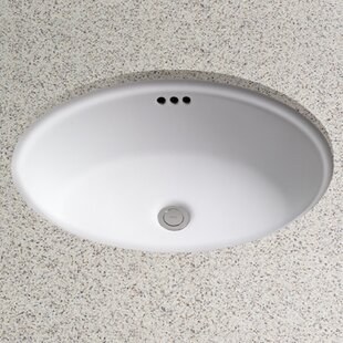 Toto Dartmouth Vitreous China Oval Undermount Bathroom Sink with Overflow