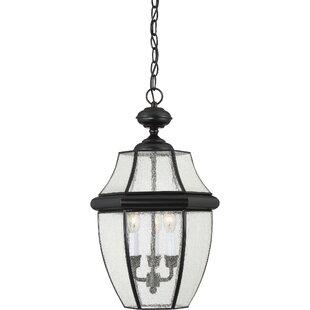 Three Posts Mellen 3-Light Incandescent Outdoor Hanging Lantern