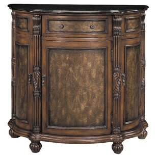 1 Drawer Curved Demilune Accent Cabinet by Stein World