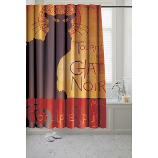 Chancery Chat Noir Museum Single Shower Curtain