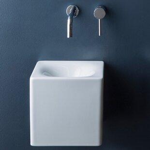 Top Cube Ceramic 10 Wall Mount Bathroom Sink ByScarabeo by Nameeks