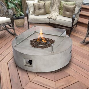 Brahmsley Concrete Propane Fire Pit Table Image