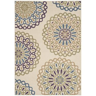 Centeno Cream & Green Indoor/Outdoor Area Rug