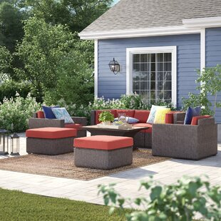 Fairfield 8 Piece Sofa Seating Group With Cushions by Sol 72 Outdoor Sale