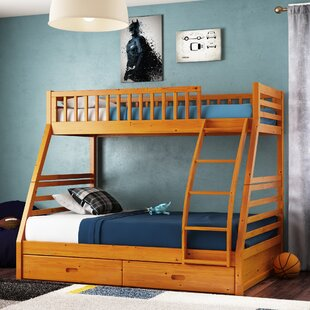 Claret Twin Over Full Bunk Bed with Drawers