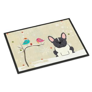 Christmas Presents Between Friends French Bulldog Doormat