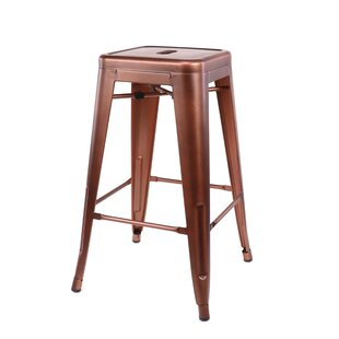 Despres Steel Stackable Counter 26 Bar Stool (Set of 4) Williston Forge