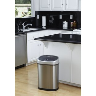 Stainless Steel 11 Gallon Motion Sensor Trash Can