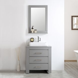 kinchen 30 single bathroom vanity set with mirror - Shallow Bathroom Vanity
