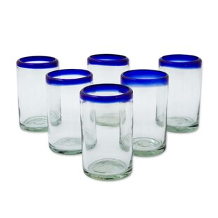 Trade Handblown Recycled 8 Oz. Water Glass Set (Set of 6)