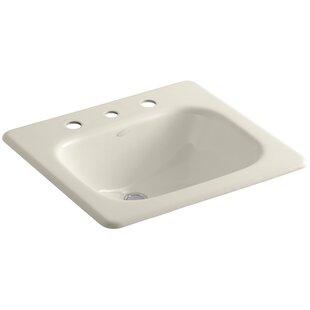Tahoe Metal Rectangular Drop-In Bathroom Sink with Overflow Kohler