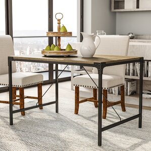 Madeline Angle Iron And Wood Dining Table