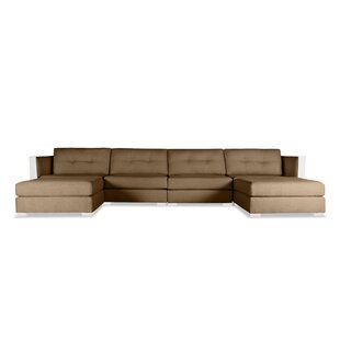 Orren Ellis Steffi Buttoned U-Shape Double Chase Modular Sectional