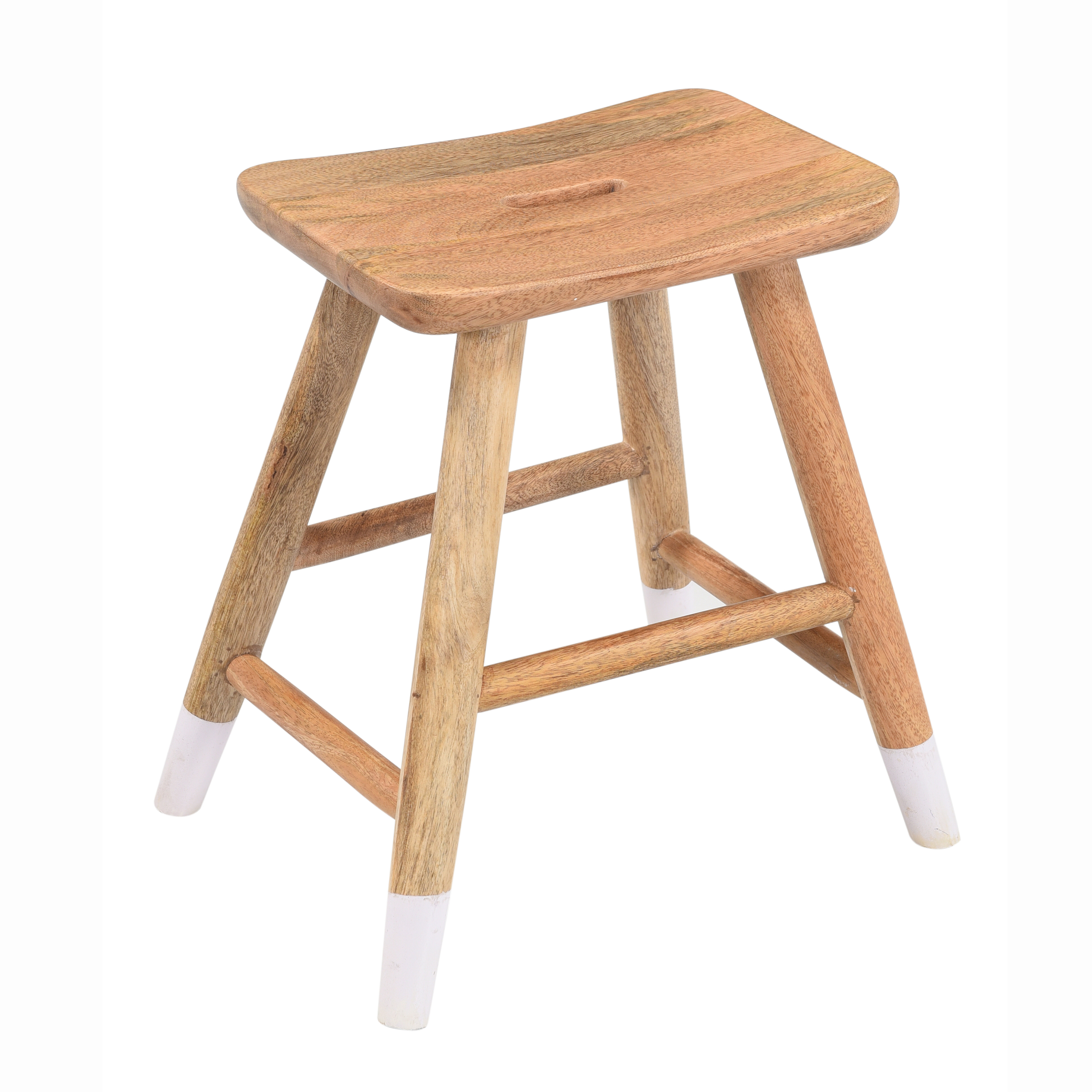 Johnny Solid Wood Accent Stool Reviews Joss Main