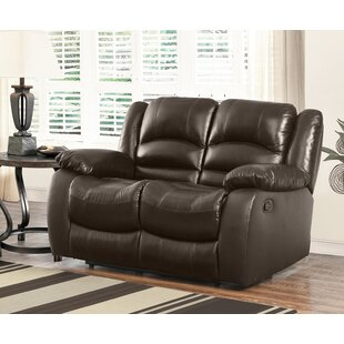 Jorgensen Top Grain Leather Reclining Loveseat by Darby Home Co