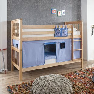 Thalia European Single Bunk Bed With Curtain And Pocket By Harriet Bee