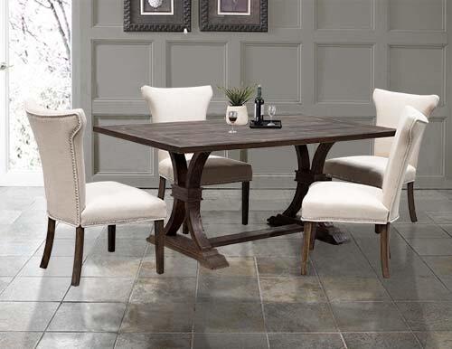 weathered oak rustic dining table u0026 reviews wayfair