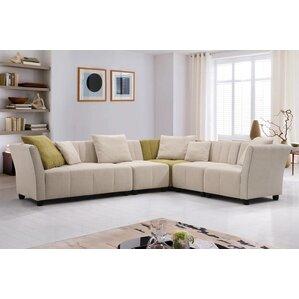 Latitude Run Hasbrouck Fabric Modern 5 Piece Living Room Set