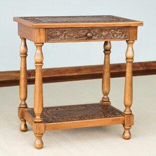 Mcneal Elegance Wood End Table