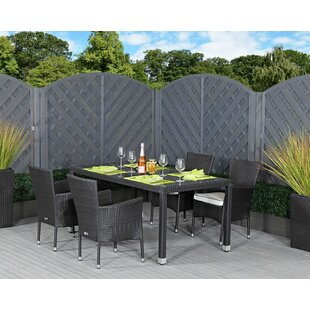 Finn 4 Seater Dining Set With Cushions By Sol 72 Outdoor