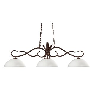 Fleur De Lis Living Beehler 3-Light Pool Table Light