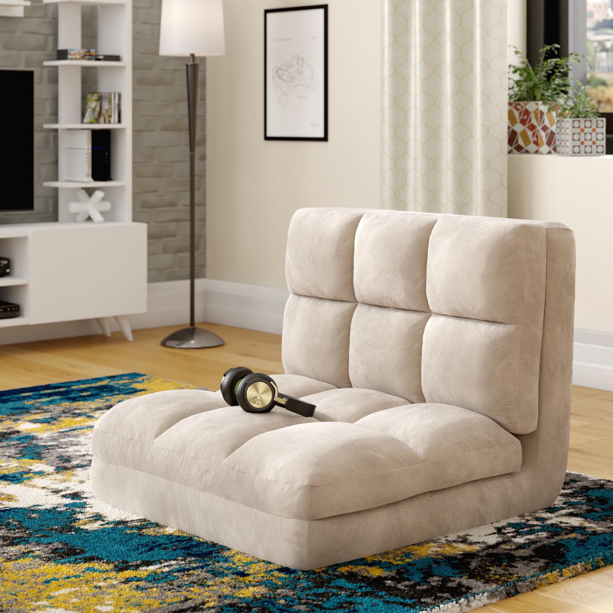 Micro Suede 5 Position Adjustable Convertible Flip Floor Game Chair
