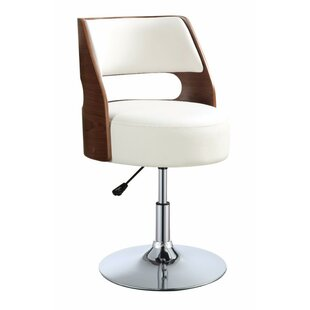 Ezra Stylish Adjustable Height Swivel Bar Stool by George Oliver