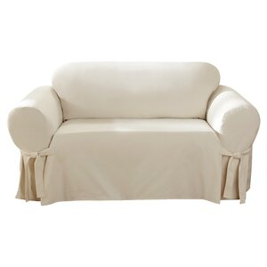 Cotton Duck Box Cushion Sofa Slipcover