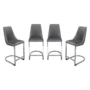 Vogue Counter Height 24 Bar Stool (Set of 4) by Diamond Sofa