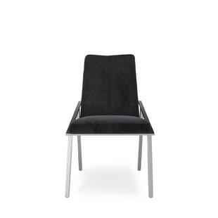 Everly Quinn Frampton Upholstered Dining Chair (Set of 2)