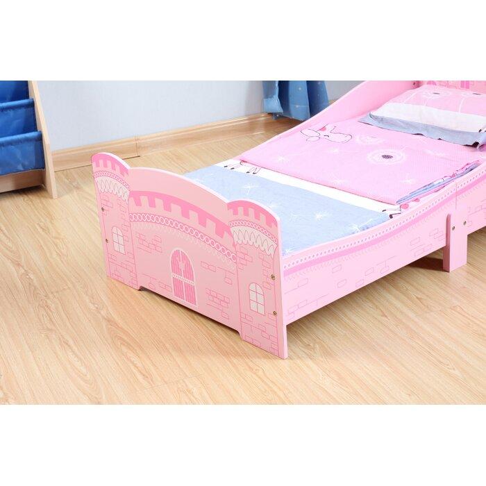 Jaren Castle 70 X 140cm Convertible Toddler Bed With Mattress