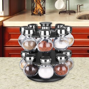 Revolving 16 Jar Spice Jar & Rack