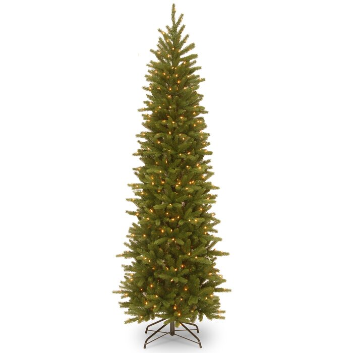 Latitude Run Grande Green Fir Artificial Christmas Tree with Clear Lights